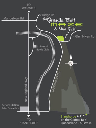 Granite Belt Maze Stanthorpe Map